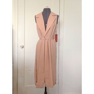 Forever 21 nude peach sleeveless trench vest